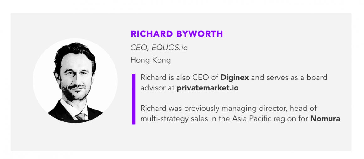 Richard Byworth CEO EQUOS.io, Diginex