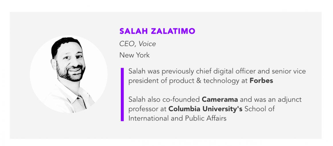 Salah Zalatimo CEO of Voice, blockchain-based social media