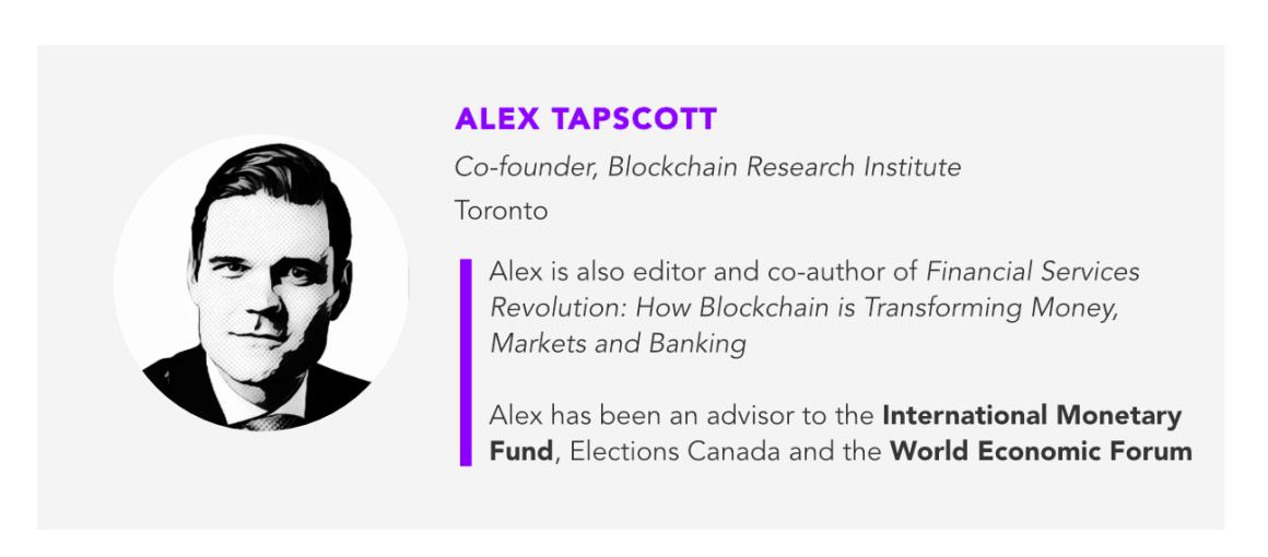 Alex Tapscott, Blockchain research institute