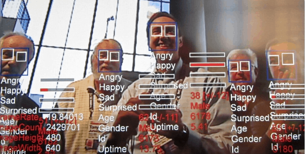 Facial recognition emotions age