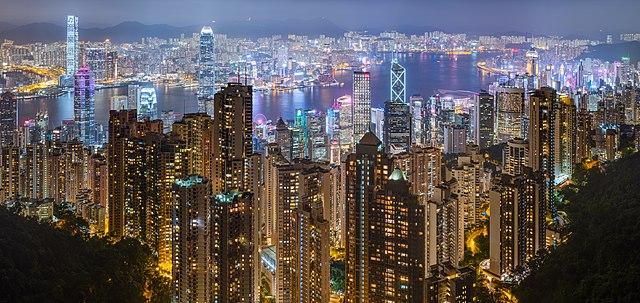 Hong Kong harbour, Victoria Peak
