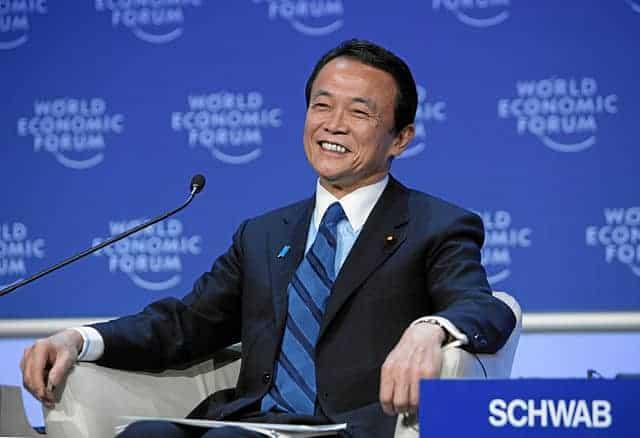 Japan deputy PM Taro Aso