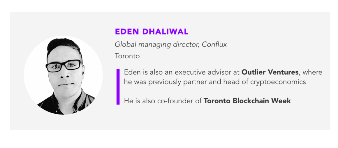 Eden Dhaliwal, Conflux