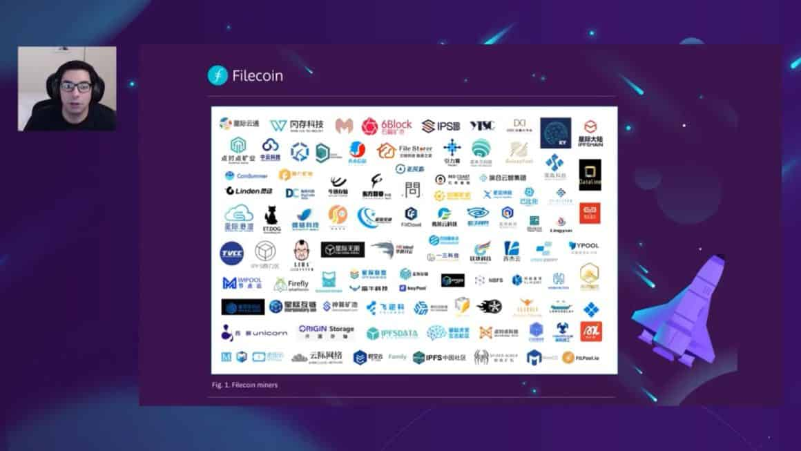 Filecoin's ecosystem lead in Filecoin mining community call.