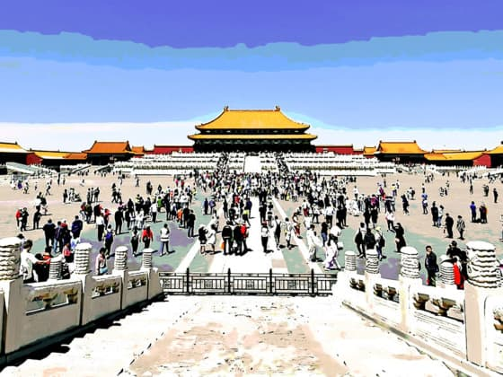 China, forbidden city, tourism