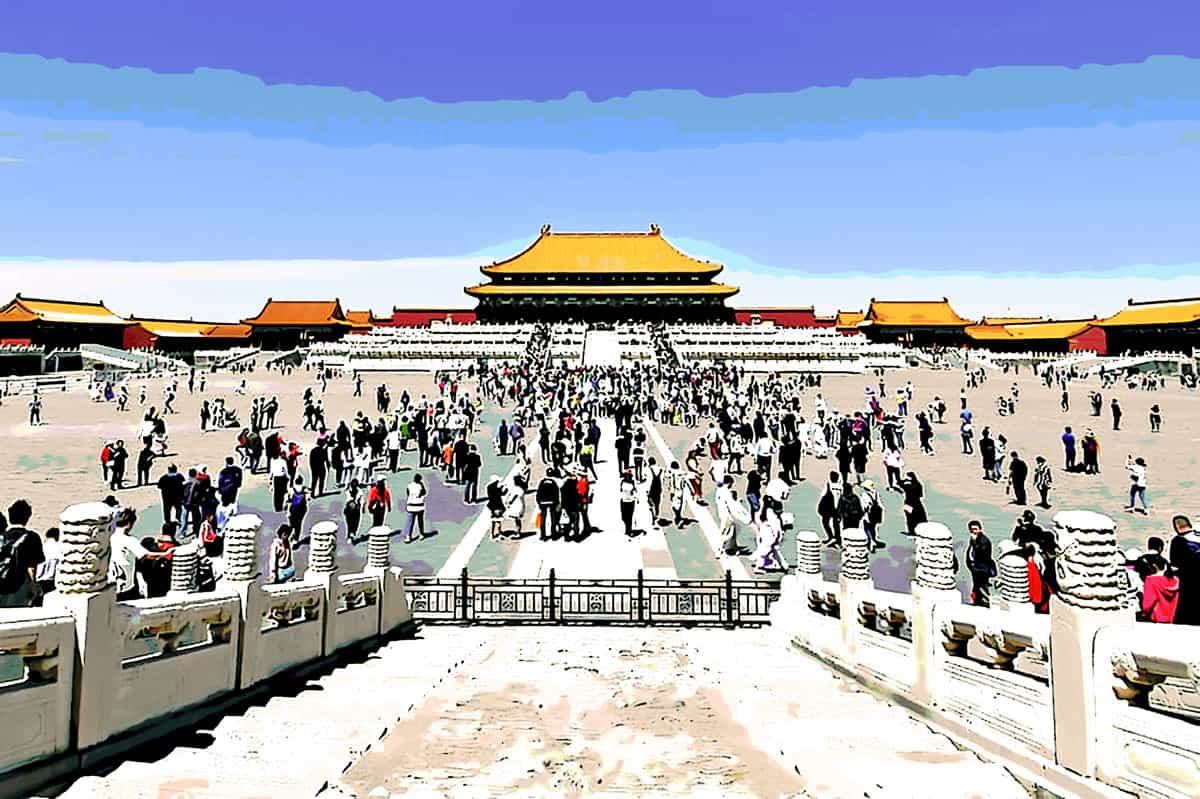 people s republic of china beijing forbidden asia building landscape tourism travel history feature