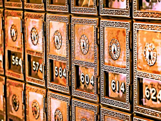 Numbered bank boxes