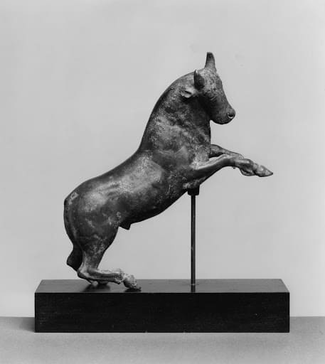 The Rearing Bull as displayed in the Walters Art Museum