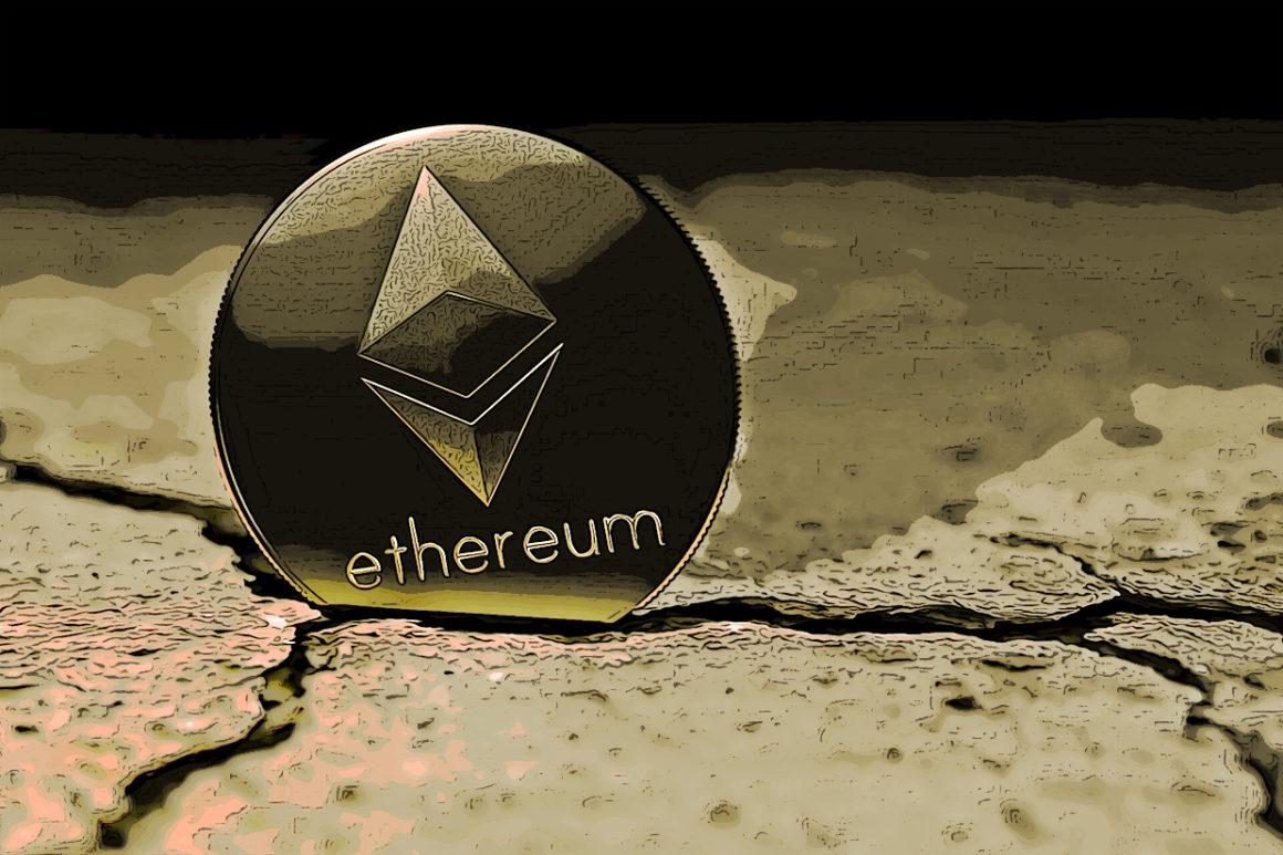 Ethereum coin through the cracks