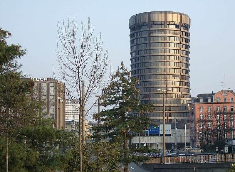 Bank of International Settlements headquarters in Basel, Switzerland