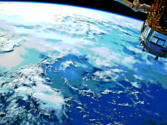 International Space Station and Earth