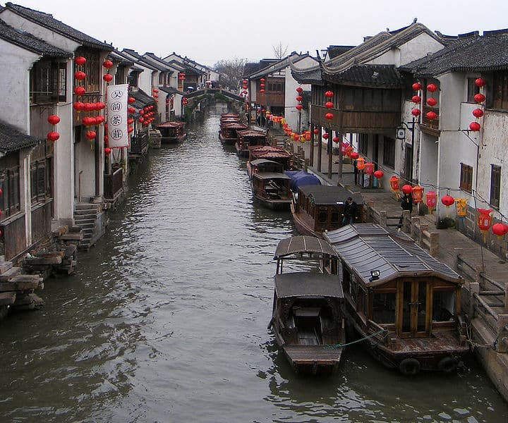 Canal in downtown Suzhou