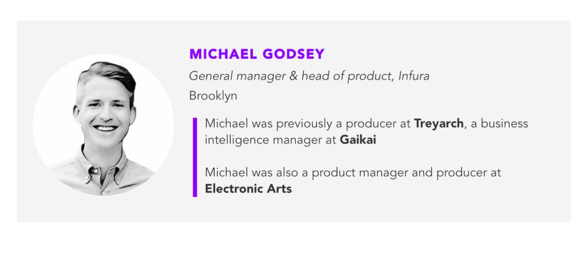 Michael Godsey, Infura
