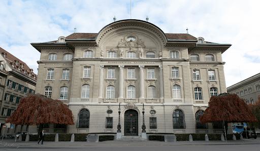 Swiss National Bank building in Bern
