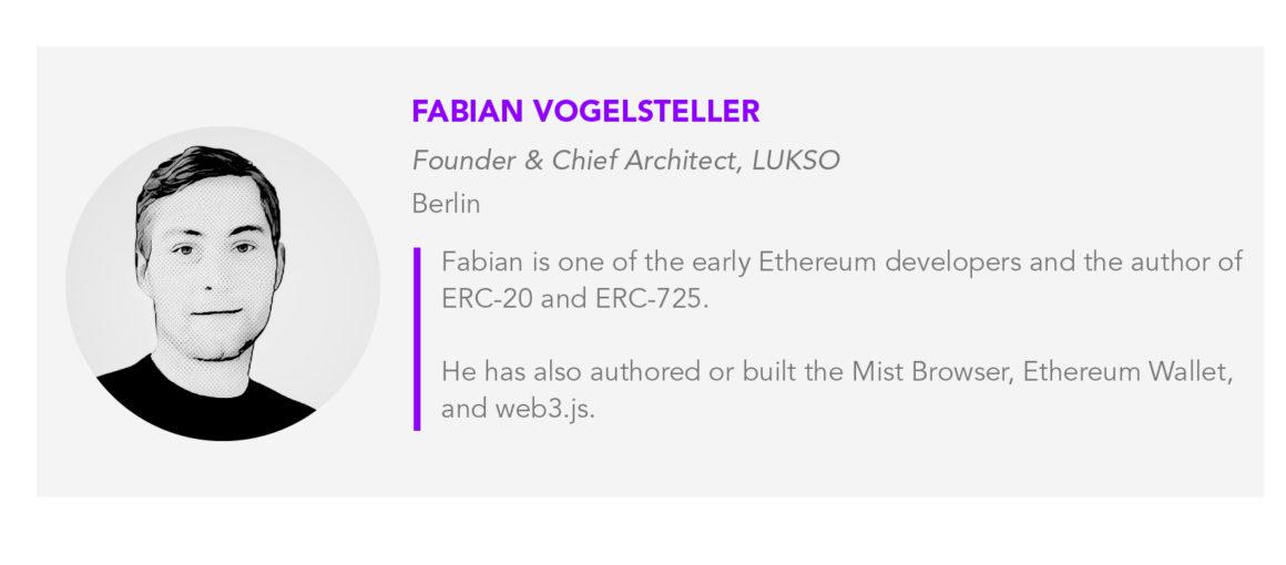 Fabian Vogelsteller bio card