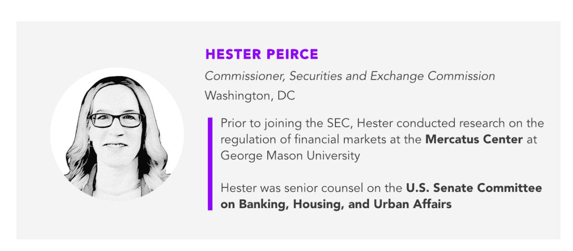 SEC Commissioner Hester Peirce