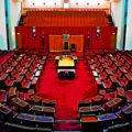 wide shot of the Australian Senate. Can blockchain usher a new age of regulations?