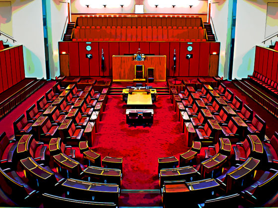 wide shot of the Australian Senate. Can blockchain usher a new age of regulations?