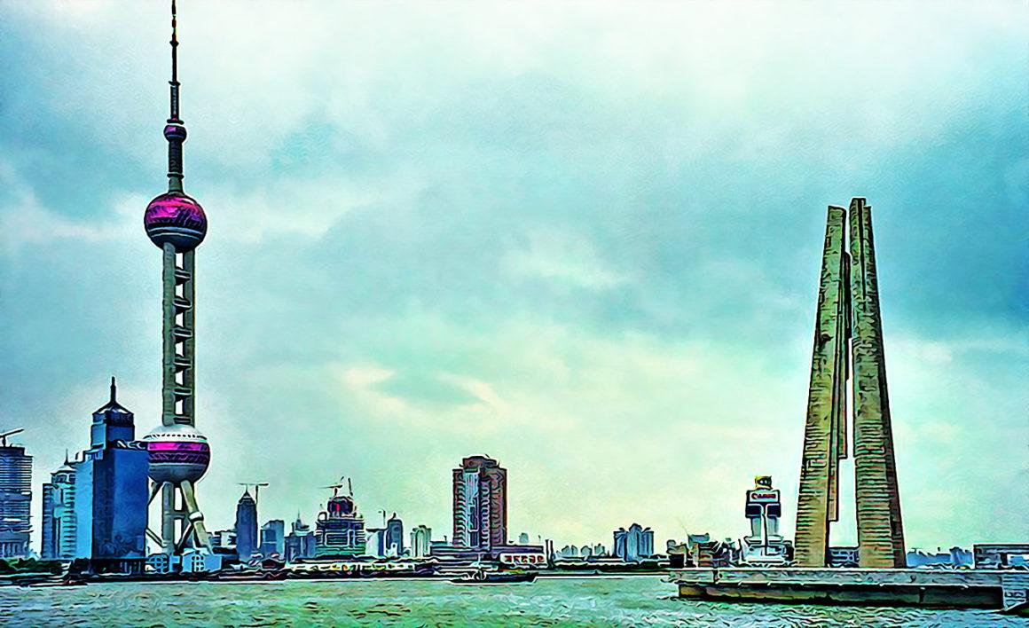 Shanghai Skyline by Dan Lundberg