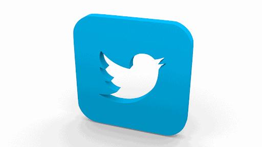 Eine dreidimensionale Darstellung des Twitter-Logos