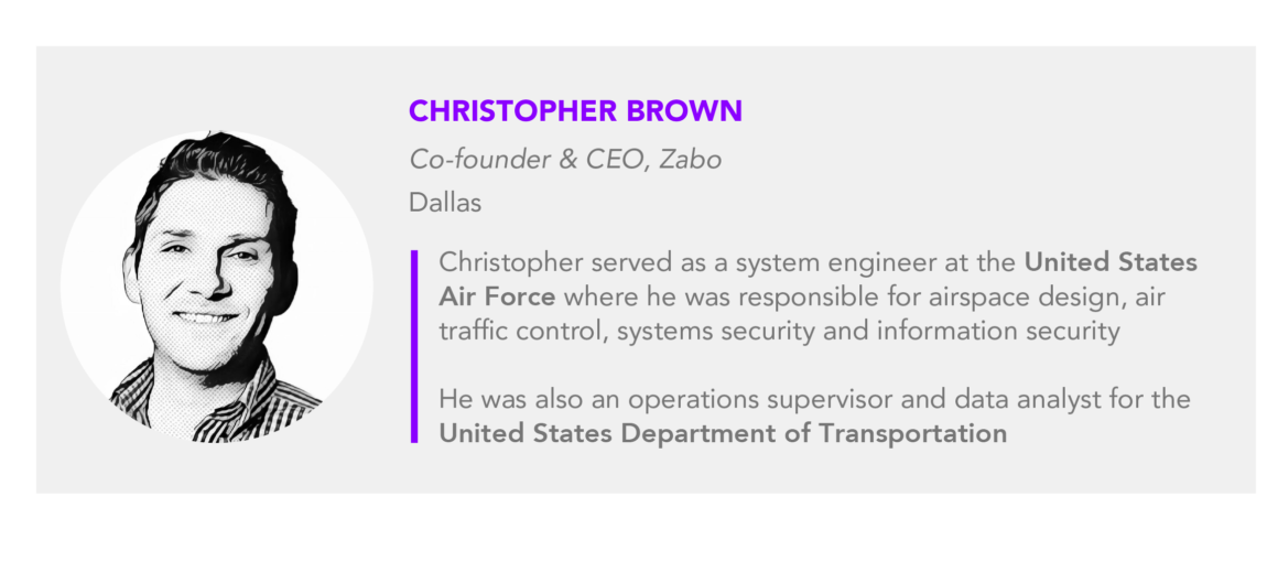 Christopher Brown co founder CEO Zabo 01