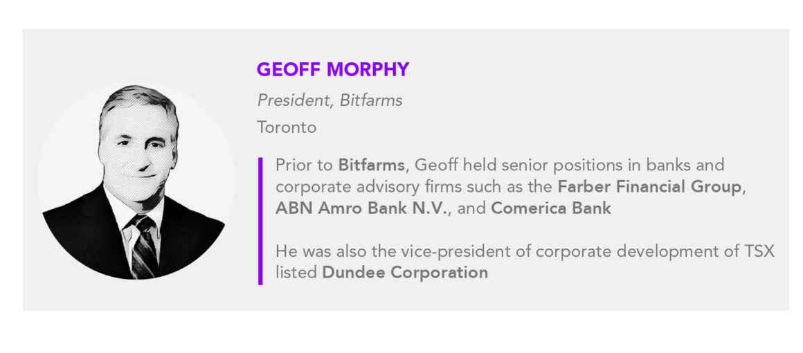 Geoff Morphy President of Bitfarms