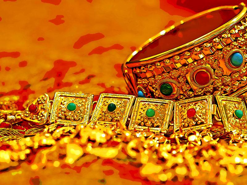 Piles of jewelry