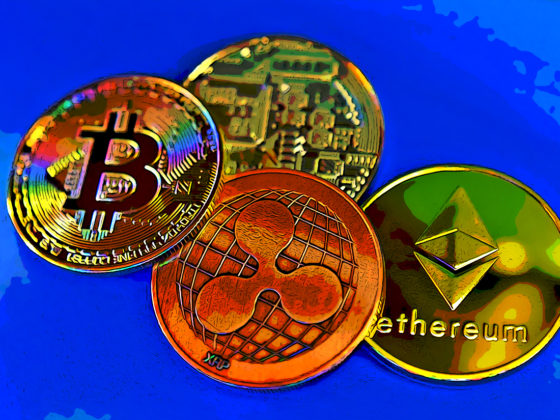 XRP, Bitcoin, EThereum and another gold coin