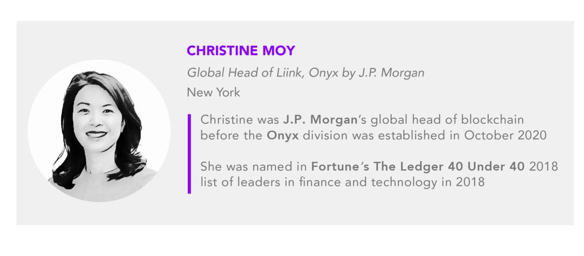 Christine Moy global head of Liink Onyx by JPMorgan
