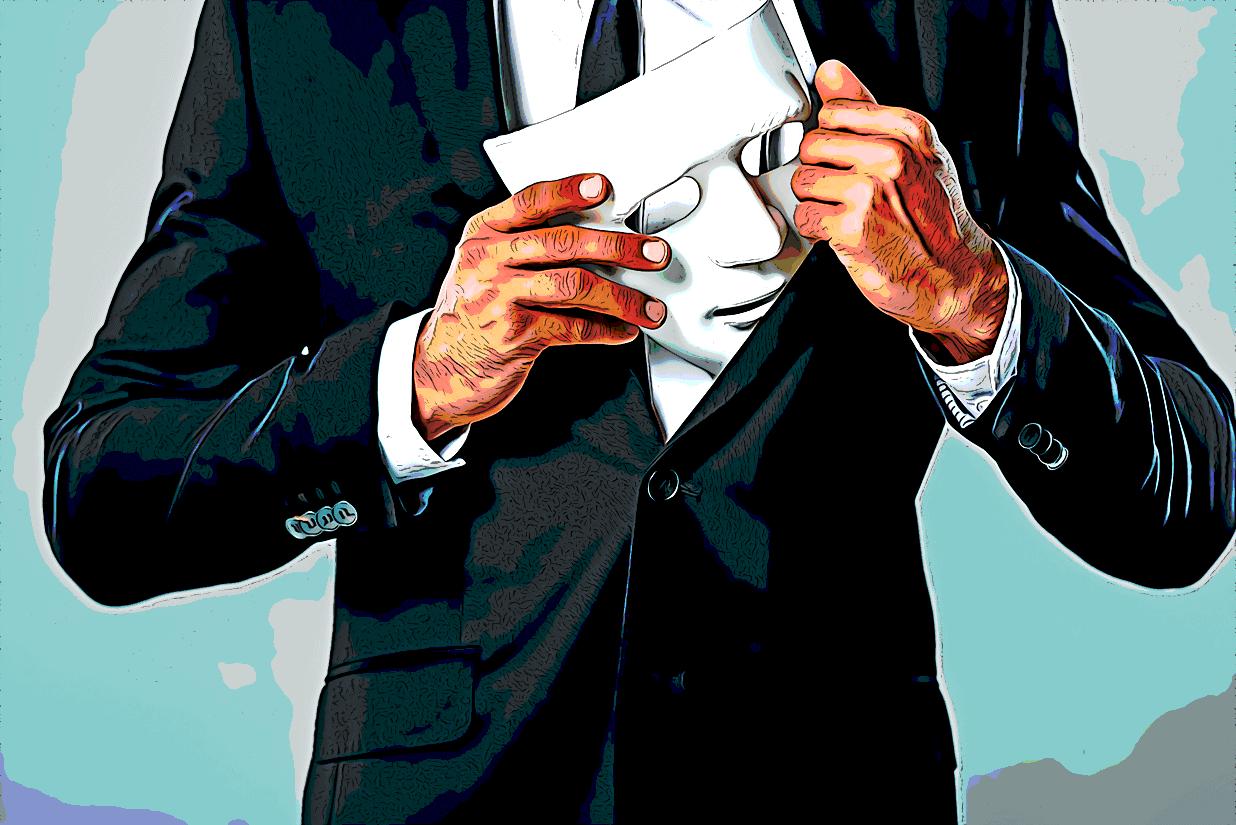 Business man hiding white mask in his suit LightFieldStudios Envato Elements