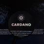 Magnifying glass over Cardano logo