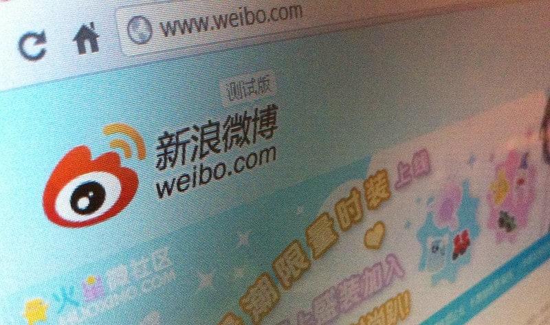 Weibo website