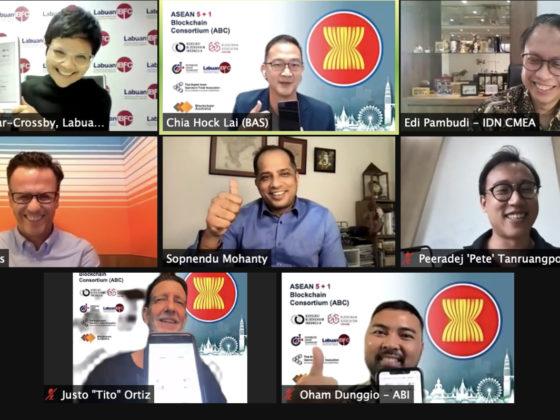 Virtual signing of ASEAN Blockchain Consortium memorandum of understanding (MOU)