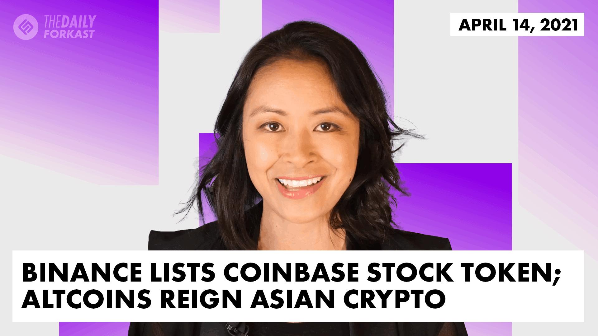 Binance lists Coinbase Stock Token Altcoins Reign Asian Crypto