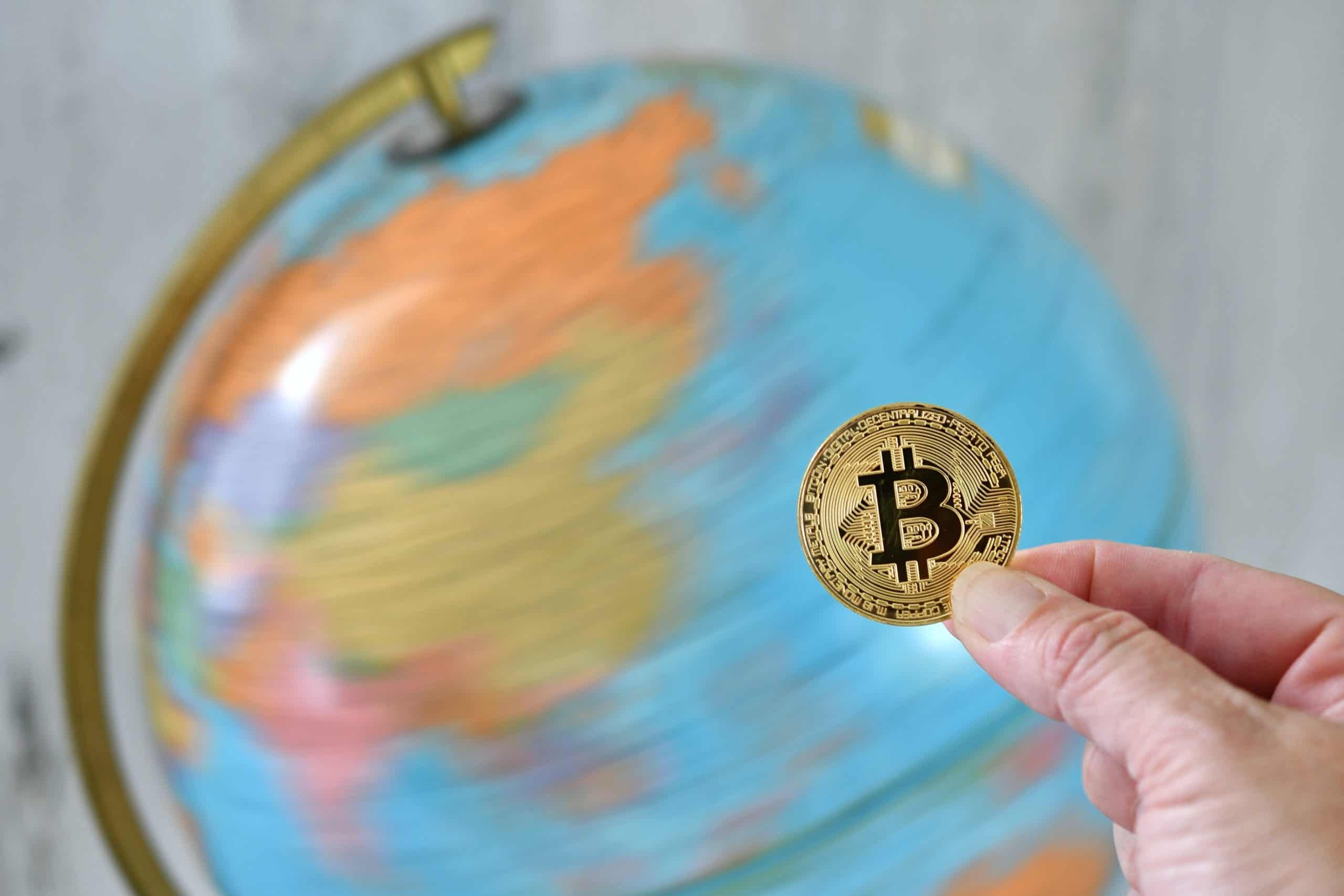 Bitcoin with China in the background scaled