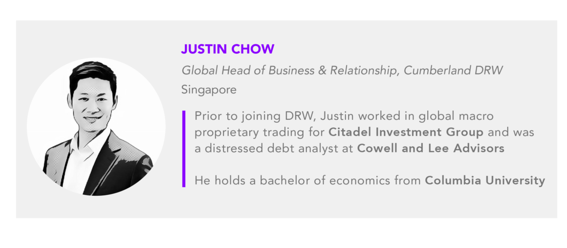 Justin Chow Global Head of Business and Relationship, Cumberland DRW