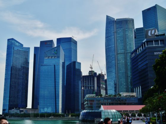 Singapore Marina Bay view with DBS Bank building in the background