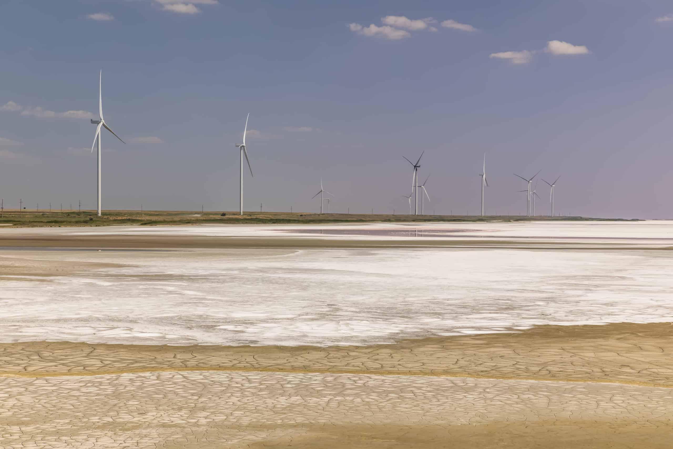 Wind turbines scaled