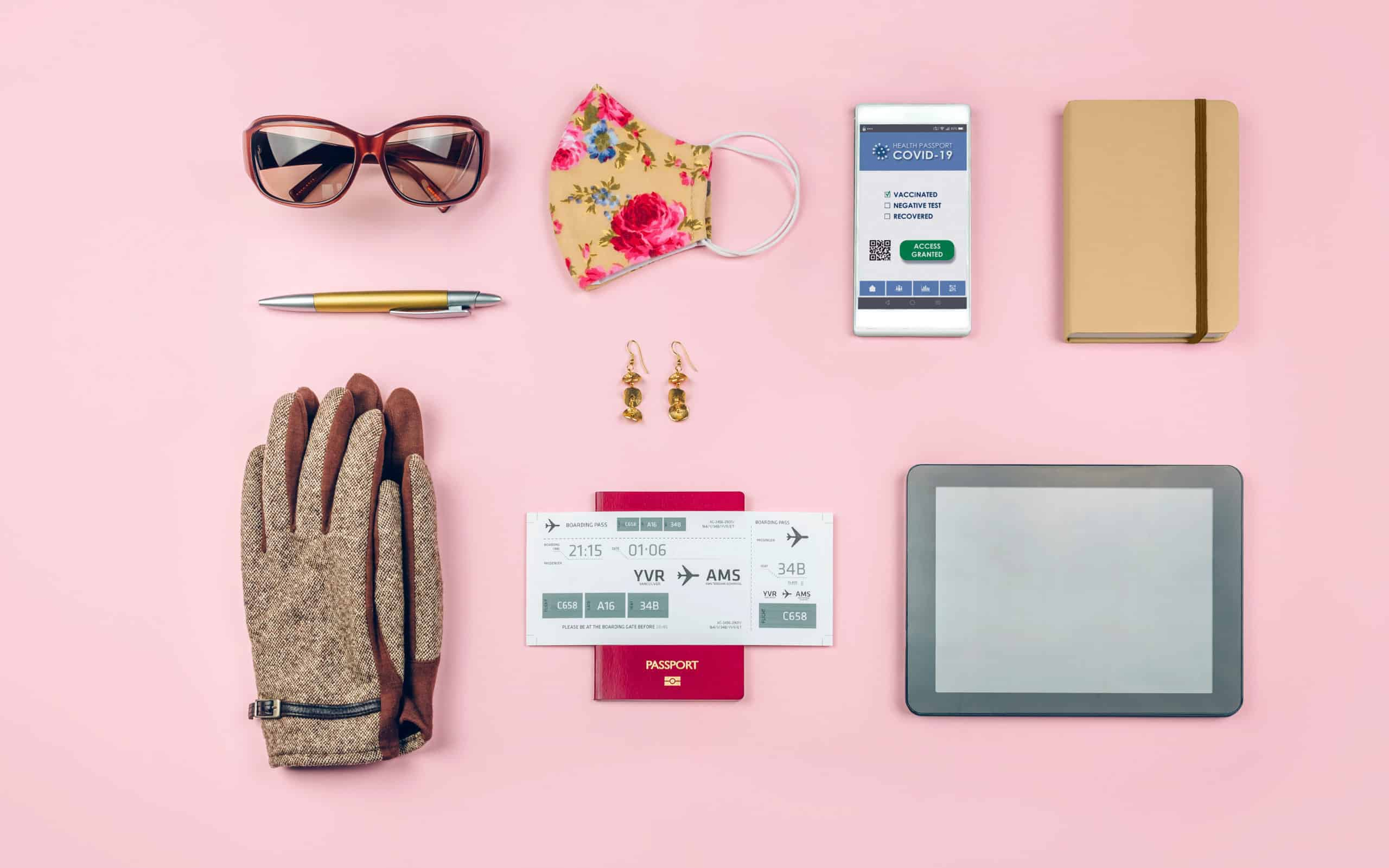 set with mobile covid passport and businesswoman t SHWYAKT Envato Elements scaled