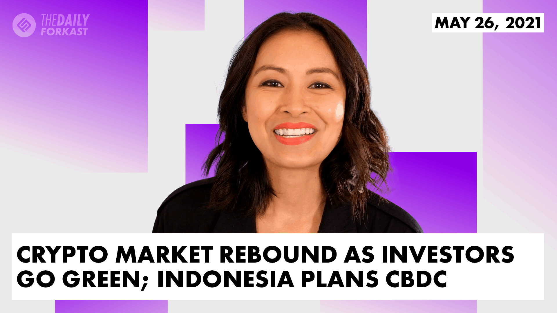 Crypto market rebound as investors go green Indonesia plans CBDC