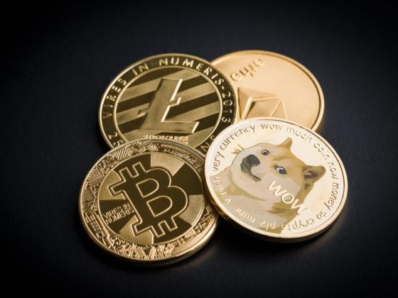 Dogecoin, litecoin, ethereum and bitcoin.