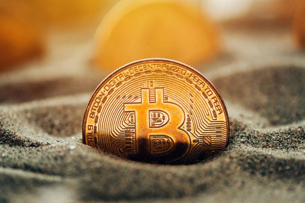 Bitcoin in Sand