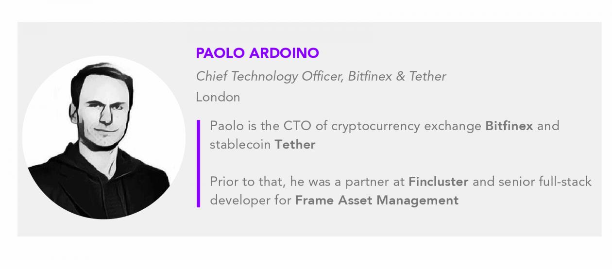 Paolo Ardoino Bitfinex Tether CTO