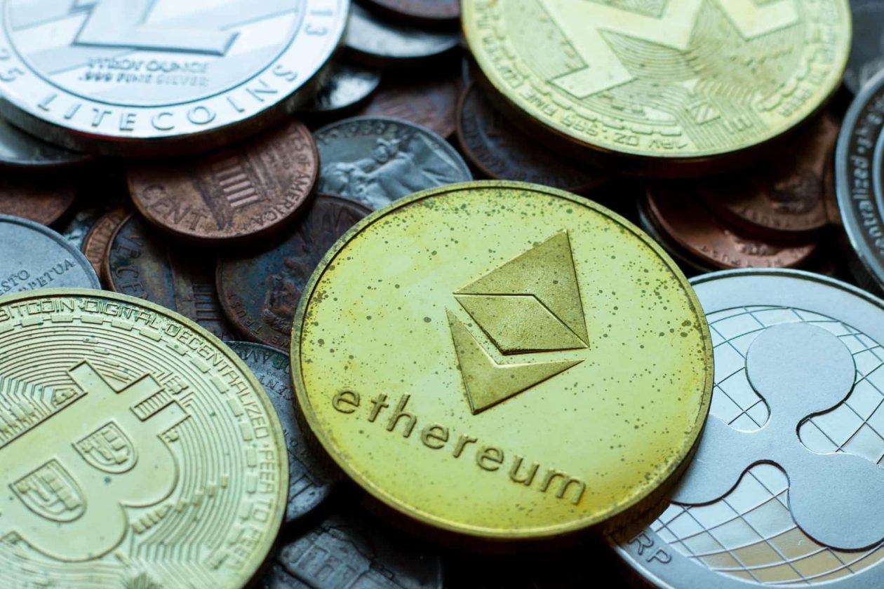 crypto coin pile