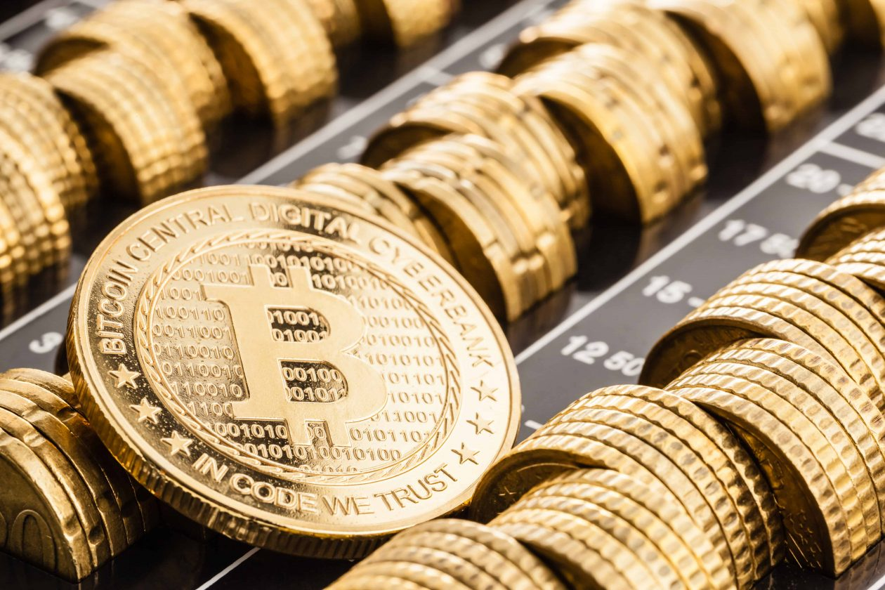 gold bitcoin over real coins WZX547K