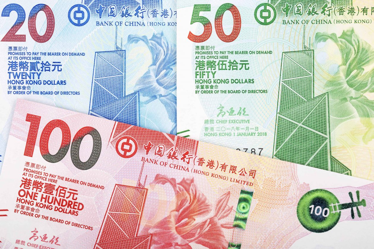 hong kong dollar a business background J65XT4W