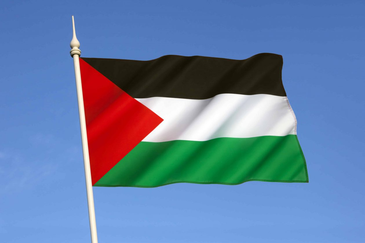 the palestinian flag based on the flag of the arab 73MKJLD