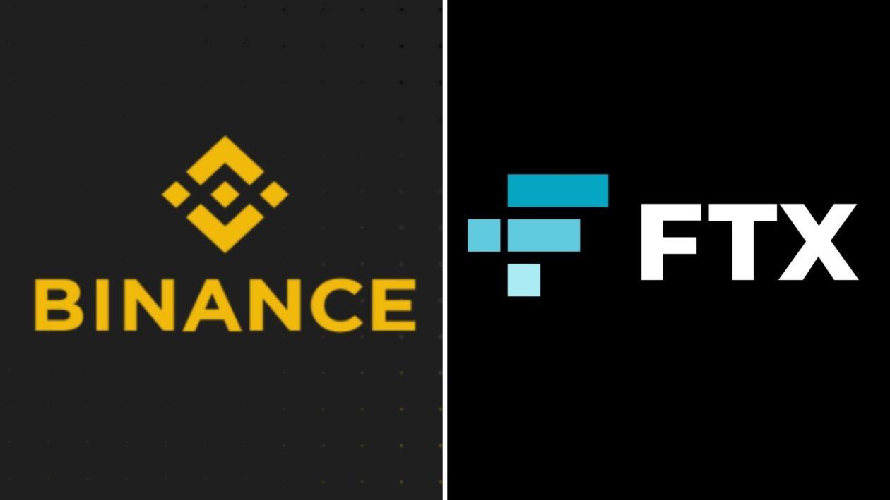 Binance and FTX logos