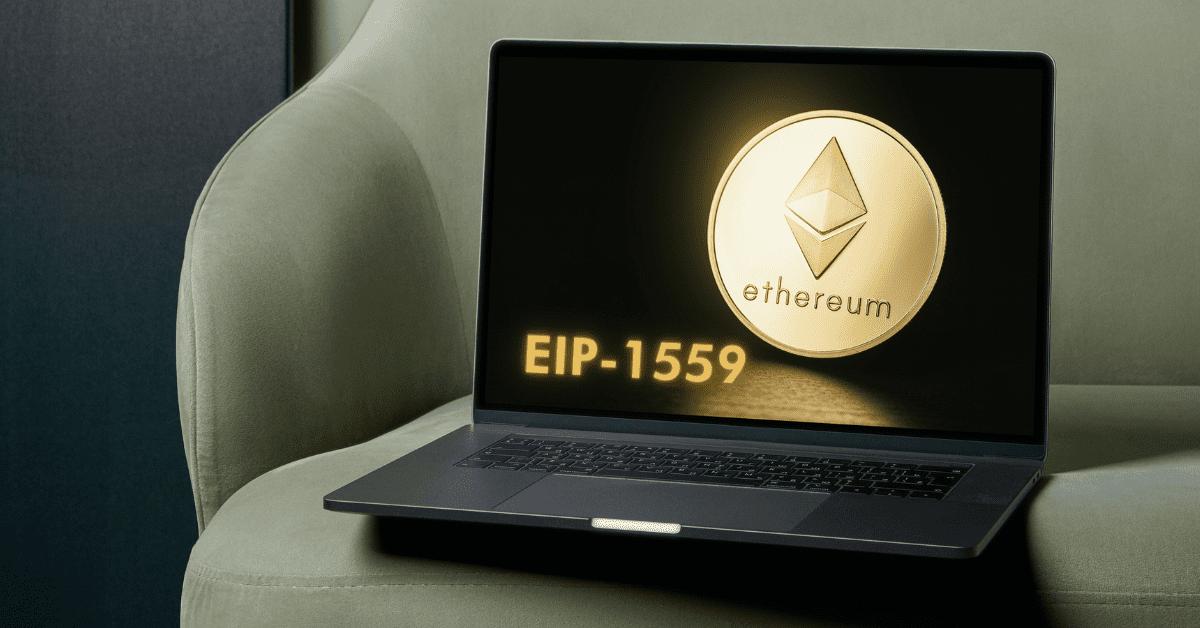 EIP 1559 Ethereup on laptop screen