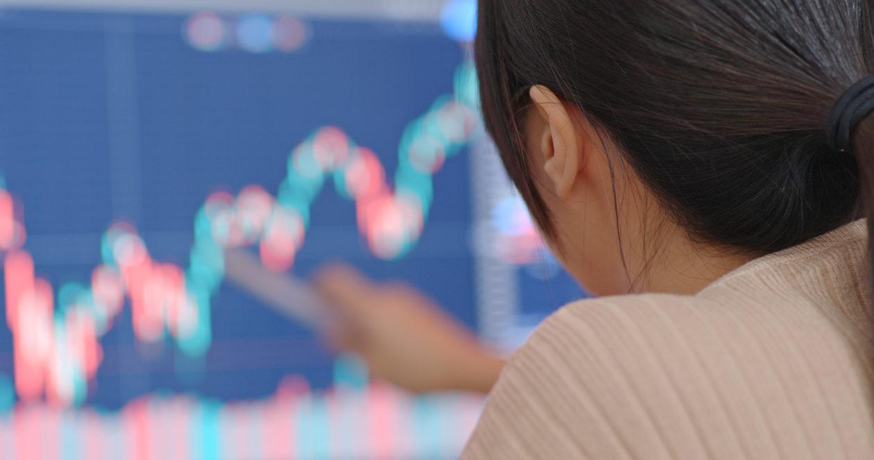 Woman trading